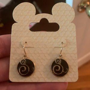 Disney Dangle Earrings - Swirl Mickey Mouse Icon